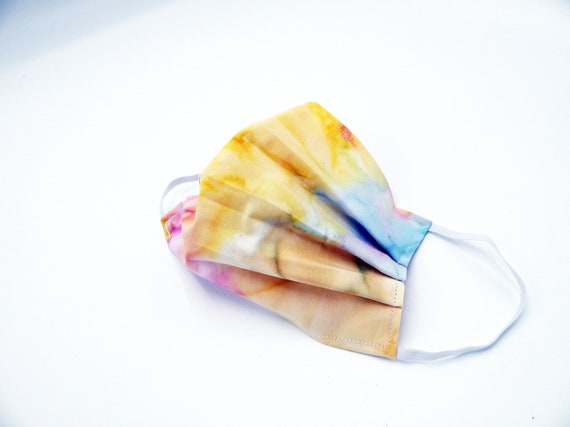 Watercolors Cloth Face Mask, Washable, Opening for Filter Insert