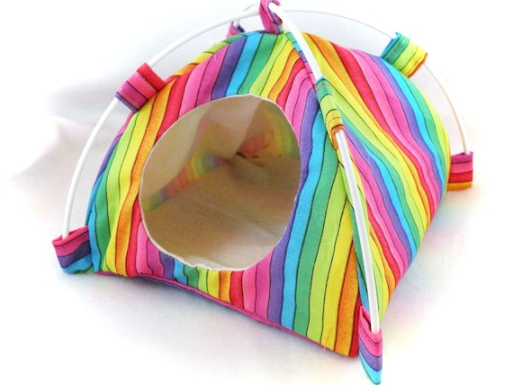 Bright Stripes Snuggle Tent for Hedgehogs Rats Small Mammals Zhu Zhu