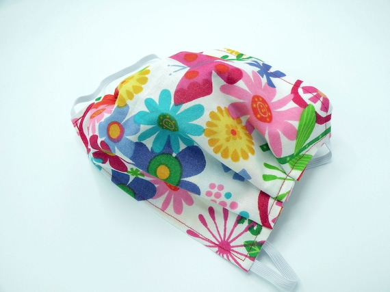 Wild Flowers Cloth Face Mask, Washable, Opening for Filter Insert