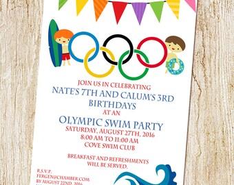 Trampoline Party invitation Sky Zone Birthday Invitation   Etsy