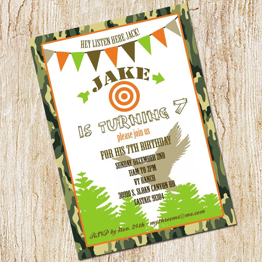 Duck Dynasty Invitation Duck Hunting Party invitation | Etsy