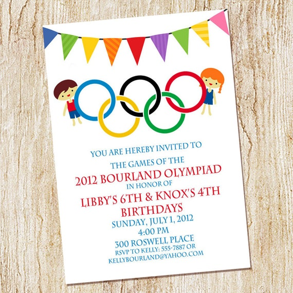 Olympic party invitation olympics birthday invitation digial etsy image 0 stopboris Choice Image
