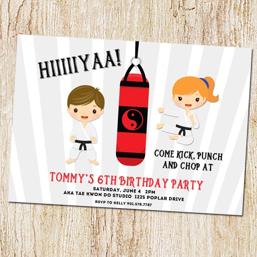 Karate invitation karate party ninja party invitation   Etsy