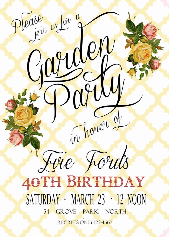 f085caa45fea Garden Party Invitation Bridal Shower Invitation Digital