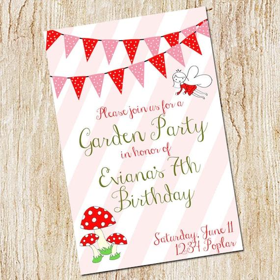 Garden party invitation birthday party invitation digital etsy image 0 stopboris Image collections