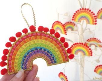 Rainbow Decoration - Crazy Happy Rainbow Decoration. Rainbow of Hope. Rainbow Christmas. Rainbow Decor. Rainbow Decorations.