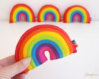 Pocket Rainbow - A Little Baby Plush Rainbow. Rainbow Toy. Rainbow Decoration. Rainbow baby. Fleece rainbow. Handmade Rainbow.
