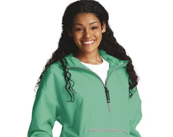 825e4875f Mint Pac N Go Pullover Monogram Charles River -Light Weight Rain Wear