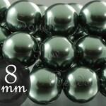 8mm Iridescent Tahitian look Swarovski pearls, 8mm round beads Style 5810 (25)