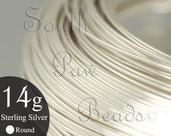 1/2 troy oz coil, Round Sterling Silver Wire 14 gauge dead soft, approximately 2.3 feet