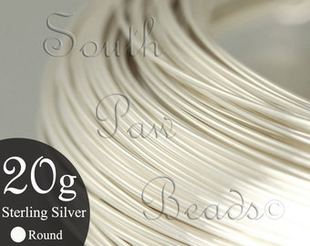 1/2 troy oz coil, 20 gauge round Sterling Silver Wire, you pick the temper half hard or dead soft, approximately 9.5 feet