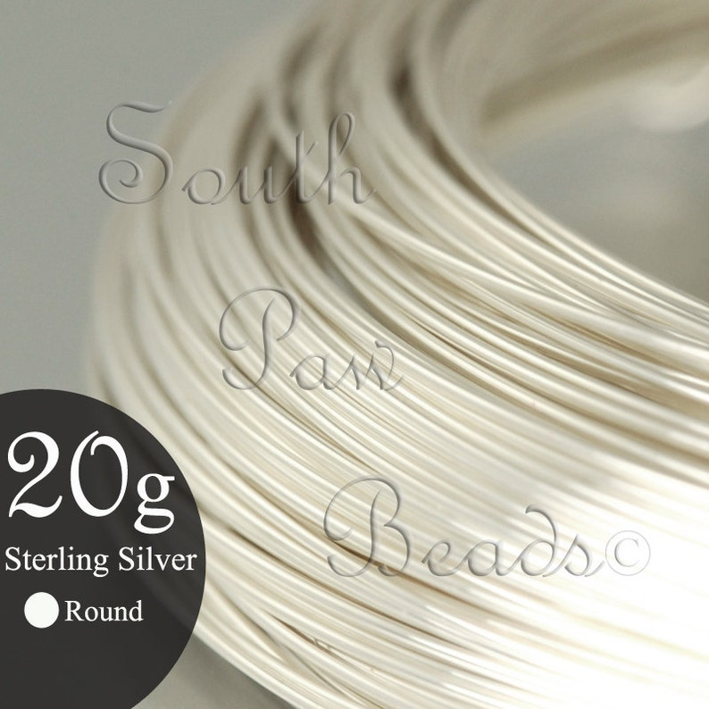 1/2 troy oz coil 20 gauge round Sterling Silver Wire you image 0