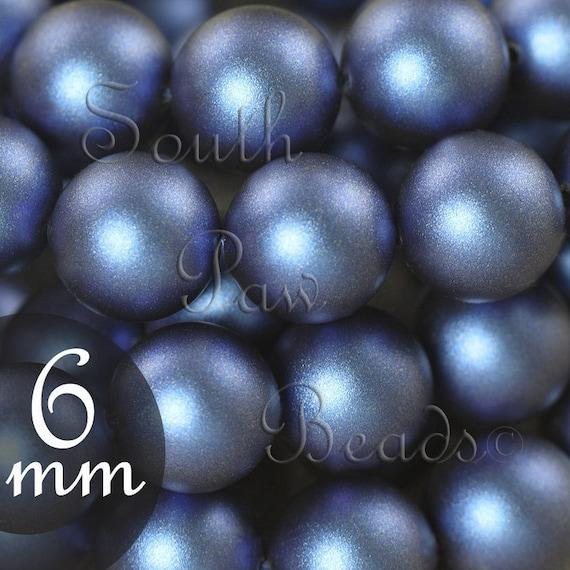3dddd467cc87 6mm Iridescent Dark Blue Swarovski pearl bead style 5810 round