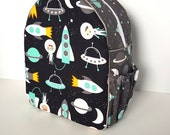 Kids Backpack, Preschool Backpack, Personalized Backpack, Daycare Backpack, Diaper Bag, Childrens Backpack, Toddler Backpack, Out To Space
