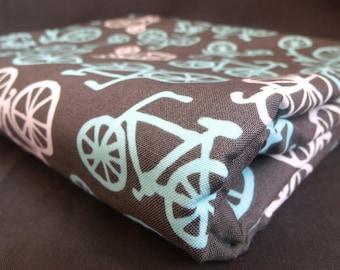 Organic Fleece Baby Blanket, Bicycles