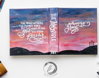 hand painted bible | the sunset