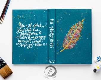 hand painted bible | the feather