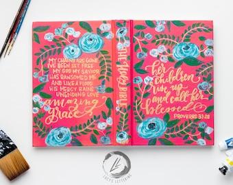 hand painted bible | the secret garden