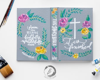 hand painted bible | the cross