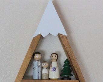 Snow Peak Mountain Shelf Nursery Room Decor Forest Woodland Reclaimed Wood Triangle Geometric