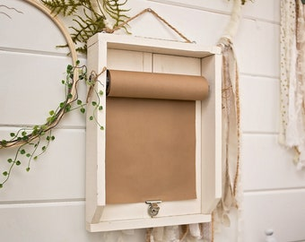 Message Board Scroll Paper Wall Mount List Notes Grocery Schedule Quote Cute Saying Holiday Display Handwritten Decor Office School
