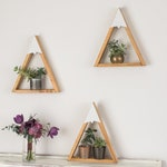 SET OF 3- Woodland Nursery, Mountain Shelf, Geometric Shelf, Floating Shelf, Boy Nursery, Mountain, Nursery Shelf, Reclaimed Wood, Triangle