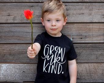Unisex Grow Up Kind Baby Tee Shirt Kids Fashion Words to Live by World Changer Be Kind Tee Shirt 6MO 12MO 18MO 24MO