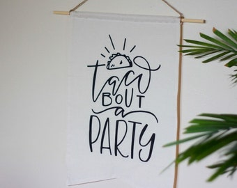 Taco Bout A Party Taco Smash Mexican Fiesta Taco Twosday Cinco de Mayo Large Party Backdrop Bunting Banner Taco Bout Love