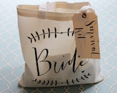 Wedding Day Survival Kit - DIY Bridal Shower Gift 'Something New' for the Bride Tote Gift Bag