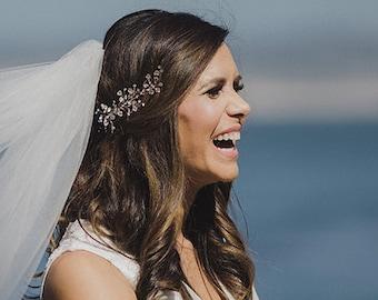 Wedding Hair Vine with Rhinestones, Bridal Headband Comb Headpiece