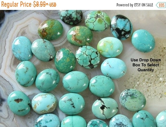 2 Pic Natural Turquoise Cabochon Oval Shape Size 10x14 M.M Arizona Turquoise Cabochons Natural Turquoise loose Gemstone For Jewelry Making