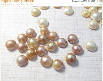 SALE Blush Pink Natural Mabe Pearl Cabochon 10mm 11mm, QTY1, Lustrous Pearl, Natural Color,