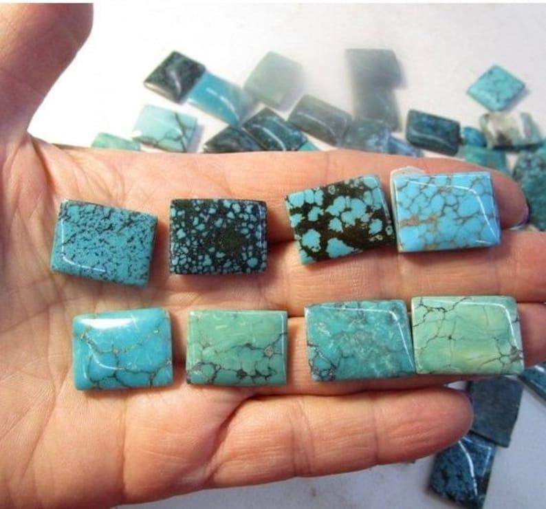 Kingman Arizona Nevada Campitos Turquoise QTY1 SALE Genuine Natural Turquoise Cabochon 15mm 20mm Rectangle