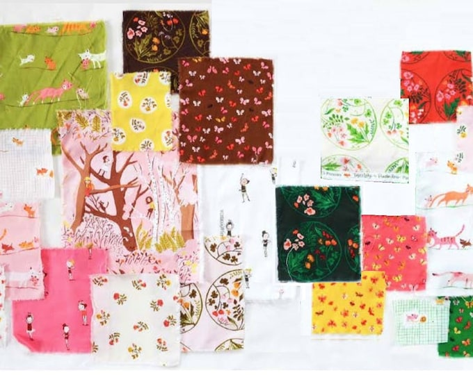 Tiger Lily by Heather Ross, Quilting cotton fabric - 22 Fat Quarters