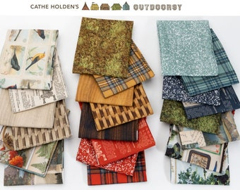 Outdoorsy by Cathe Holden - quilting cotton fabric bundle - 22 pieces