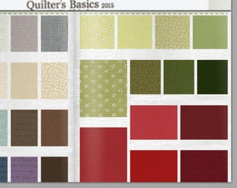 "Quilter's Basics 42 pieces - 10"" x 10"" squares - layer cake quilt cotton bundle -  Woodland Origami fabric Pack by Lecien Japan"
