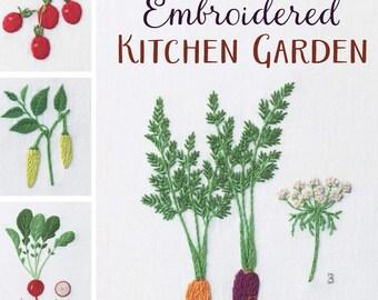 Embroidered Kitchen Garden by Kazuko Aoki - embroidery book garden plant motifs