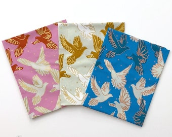 Rise, Melody Miller - Ruby Star Society Fabric Cotton, Doves FLY RS0013 Mini Bundle, 3 pieces