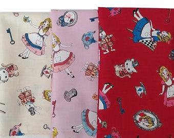 Lolita Alice fabric - Allover L40518 - Lecien Japan - select bundle or cut