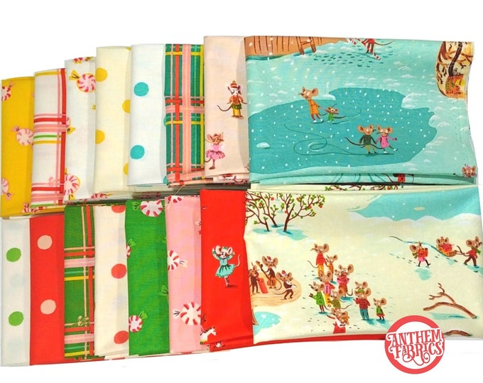 Sugar Plum by Heather Ross - quilting cotton fabric bundle - 16 fat quarters