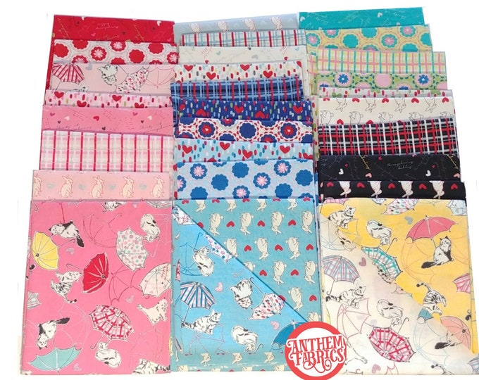 Radiant Girl Fat Quarter Fabric bundle - by Koko Seki for Lecien, 30 pieces