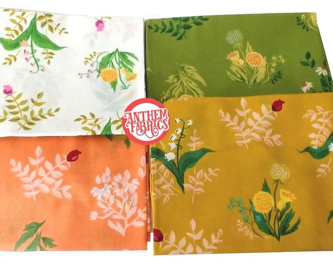 Sleeping Porch by Heather Ross, COTTON LAWN fabric - Bouquet HR42207 bundle - 4 fat quarters