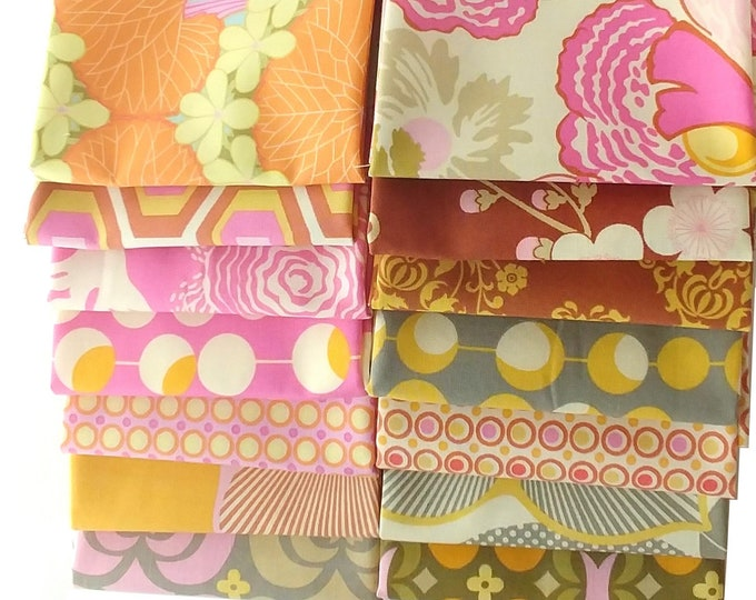 Amy Butler, Midwest Modern and Midwest Modern2 cotton fabric bundle  , 14 fat quarters