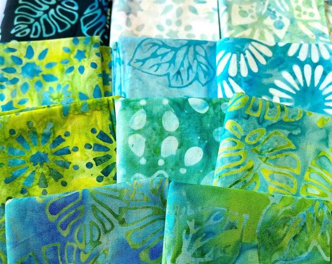 Featured listing image: Batik cotton fabric Sweet Wish by Anthology , Bundle - 11 Fat quarters