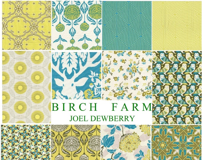 Fat Quarters Bundle, Birch Farm in Sage by Joel Dewberry - 12 fat quarters