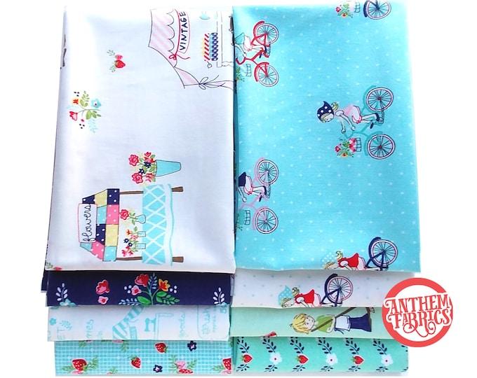 Vintage Market Bundle, Riley Blake cotton fabric - fat quarter set - 8 pieces