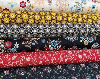 My Folklore by Lecien - cotton fabric bundle, 6 Fat quarters