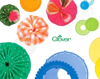 Quick Yo-Yo Makers by Clover Japan - easy craft tool - Various Sizes