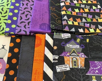 Hometown Halloween fabric by Kim Christopherson of Kimberbell, 11 fat quarters
