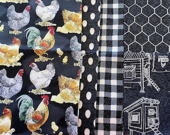 Fabrics Hen House - mini bundle 5 fat quarters